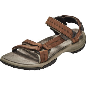 Teva Terra Fi Lite Leather Sandals Women Brown